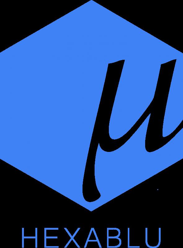 Hexablu Logo, Square, Blue