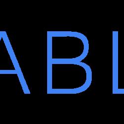 Hexablu Logo, Horizontal, Blue