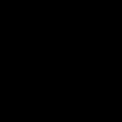 Hexablu Logo, Square, Black