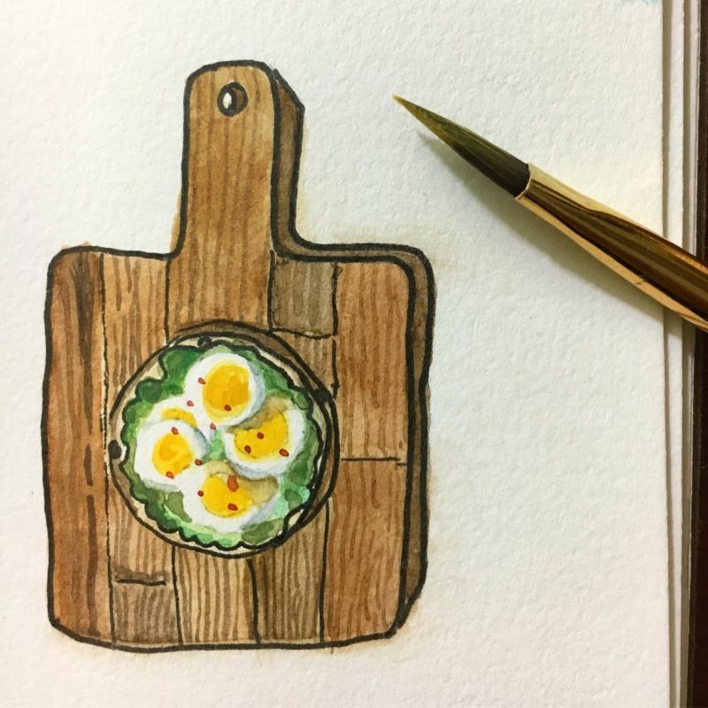 Open-Faced Bagel Sandwich II