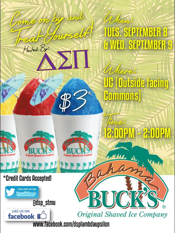Bahama Bucks Fundraiser Flyer