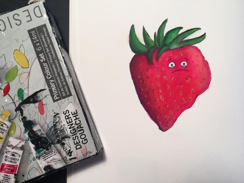 Sad Strawberry